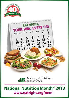 ... — Eat Right, Your Way, Everyday — National Nutrition Month Theme